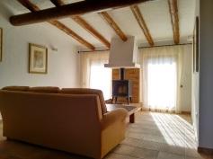 Seating area in the Finca Listonero master suite