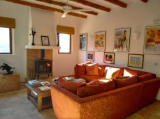 One of the lounges at Finca Listonero
