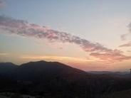View from Finca Listonero at dusk