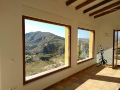 View from the lounge at Finca Listonero