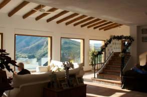 Finca Listonero lounge view out over Cortijo Grande, Almeria
